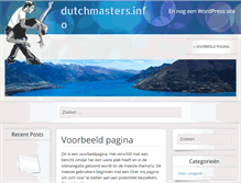 Tablet Preview of dutchmasters.info